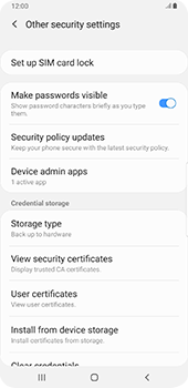 Samsung galaxy-s9-plus-android-pie - Security - Set the PIN code for your SIM card - Step 6