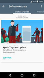 Sony Xperia X - Android Nougat - Network - Installing software updates - Step 7