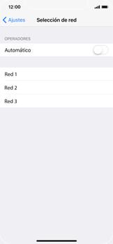 Apple iPhone X - Red - Seleccionar una red - Paso 6