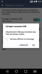 LG LG K8 - Internet et connexion - Utiliser le mode modem par USB - Étape 8