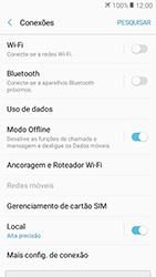 Samsung Galaxy J2 Prime - Rede móvel - Como ativar e desativar o modo avião no seu aparelho - Etapa 6