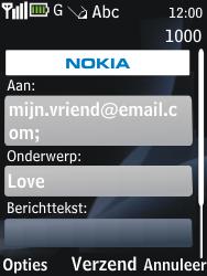 Nokia 2730 classic - E-mail - e-mail versturen - Stap 8