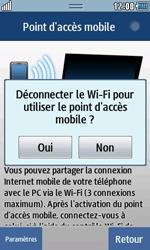 Samsung Wave 723 - Internet et connexion - Partager votre connexion en Wi-Fi - Étape 9