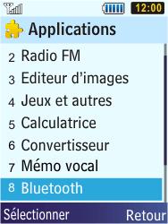Samsung S5610 Primo - Bluetooth - connexion Bluetooth - Étape 6
