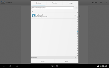 Sony SGP321 Xperia Tablet Z LTE - Email - Sending an email message - Step 7