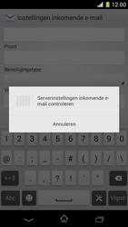 Sony D5503 Xperia Z1 Compact - E-mail - e-mail instellen: IMAP (aanbevolen) - Stap 11