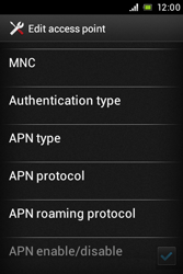 Sony ST23i Xperia Miro - Mms - Manual configuration - Step 13