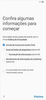 Samsung Galaxy A50 - Primeiros passos - Como ativar seu aparelho - Etapa 7