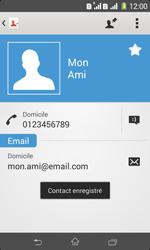 Sony Xpéria E1 Dual - Contact, Appels, SMS/MMS - Ajouter un contact - Étape 13
