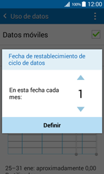 Samsung Galaxy Core Prime - Internet - Ver uso de datos - Paso 7
