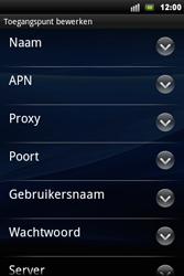Sony Ericsson Xperia Mini Pro - Internet - Handmatig instellen - Stap 8