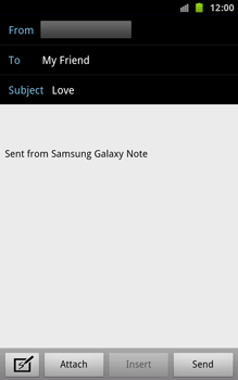 Samsung N7000 Galaxy Note - E-mail - Sending emails - Step 7
