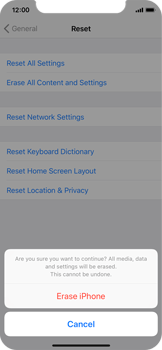 Apple iPhone X - Device - Reset to factory settings - Step 8