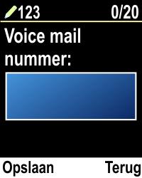 Emporia CLICKplus 3G (Model V32-3G) - Voicemail - Handmatig instellen - Stap 5