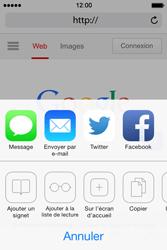 Apple iPhone 4 S iOS 7 - Internet - Navigation sur Internet - Étape 5