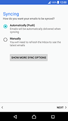 Sony Xperia X Performance (F8131) - E-mail - Manual configuration (outlook) - Step 13