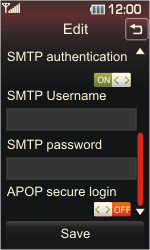 LG KP500 Cookie - Email - Manual configuration POP3 with SMTP verification - Step 18