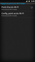 Sony Xpéria S - Internet et connexion - Partager votre connexion en Wi-Fi - Étape 11