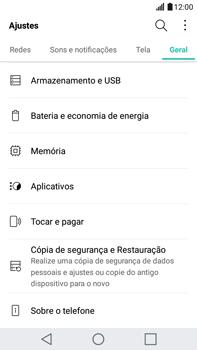 LG G5 Stylus - Funções básicas - Como restaurar as configurações originais do seu aparelho - Etapa 6