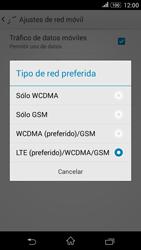Sony Xperia E4g - Red - Seleccionar el tipo de red - Paso 7