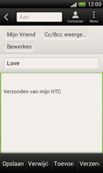 HTC T328e Desire X - E-mail - hoe te versturen - Stap 8