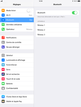 Apple iPad Mini 3 - iOS 11 - Bluetooth - connexion Bluetooth - Étape 7