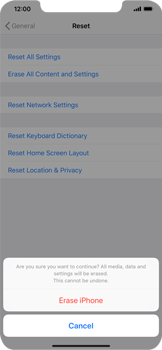 Apple iPhone XS Max - Device - Reset to factory settings - Step 8