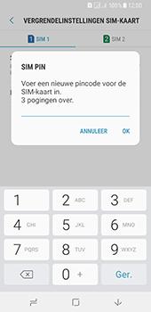 Samsung Galaxy A8 (2018) (SM-A530F) - Beveiliging en ouderlijk toezicht - Hoe wijzig ik mijn SIM PIN-code - Stap 10