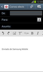 Samsung Galaxy S3 Mini - E-mail - Escribir y enviar un correo electrónico - Paso 5