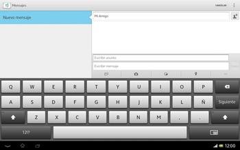 Sony Xperia Tablet Z - Mensajería - Escribir y enviar un mensaje multimedia - Paso 11