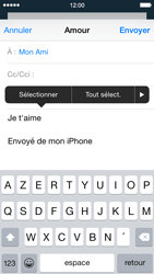 Apple iPhone 5s - iOS 8 - E-mail - Envoi d
