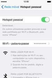 Apple iPhone 4S iOS 8 - Internet no telemóvel - Como partilhar os dados móveis -  7