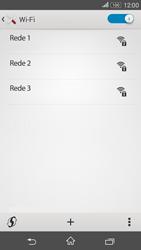 Sony Xperia E4G - Wi-Fi - Como configurar uma rede wi fi - Etapa 6