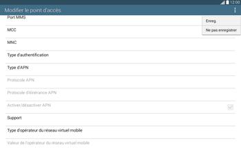 Samsung T535 Galaxy Tab 4 10-1 - Internet - Configuration manuelle - Étape 15