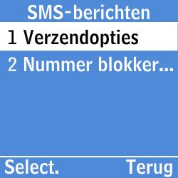 Samsung GT-E1200i - SMS - Handmatig instellen - Stap 8