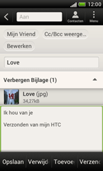 HTC T328e Desire X - E-mail - hoe te versturen - Stap 14