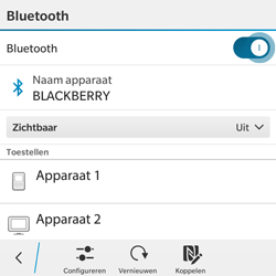 BlackBerry Classic - Bluetooth - Aanzetten - Stap 6