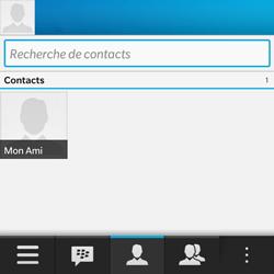 BlackBerry Q10 - Contact, Appels, SMS/MMS - Utiliser la visio - Étape 4