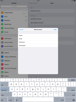 Apple iPad Pro 12.9 (1st gen) - iOS 9 - Email - Manual configuration - Step 9
