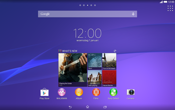 Sony Xperia Tablet Z2 (SGP521) - E-mail - e-mail versturen - Stap 1