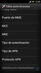 Sony Xperia J - Mensajería - Configurar el equipo para mensajes multimedia - Paso 13