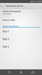 Sony Xperia E4g - Red - Seleccionar una red - Paso 8