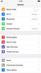 Apple iPhone 7 - iOS 12 - Rede móvel - Como selecionar o tipo de rede adequada - Etapa 3