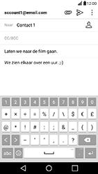 LG X Power - E-mail - Hoe te versturen - Stap 10
