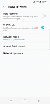 Samsung Galaxy S8 - Network - Enable 4G/LTE - Step 8
