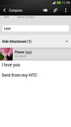 HTC One Mini - E-mail - Sending emails - Step 16