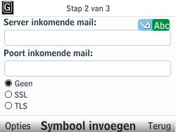 Nokia C3-00 - E-mail - handmatig instellen - Stap 8