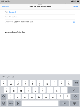 Apple iPad Air 2 - iOS 12 - E-mail - E-mails verzenden - Stap 7