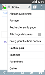 LG H220 Joy - Internet - Navigation sur internet - Étape 6