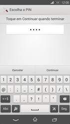 Sony Xperia M2 - Segurança - Como ativar o código de bloqueio do ecrã -  8